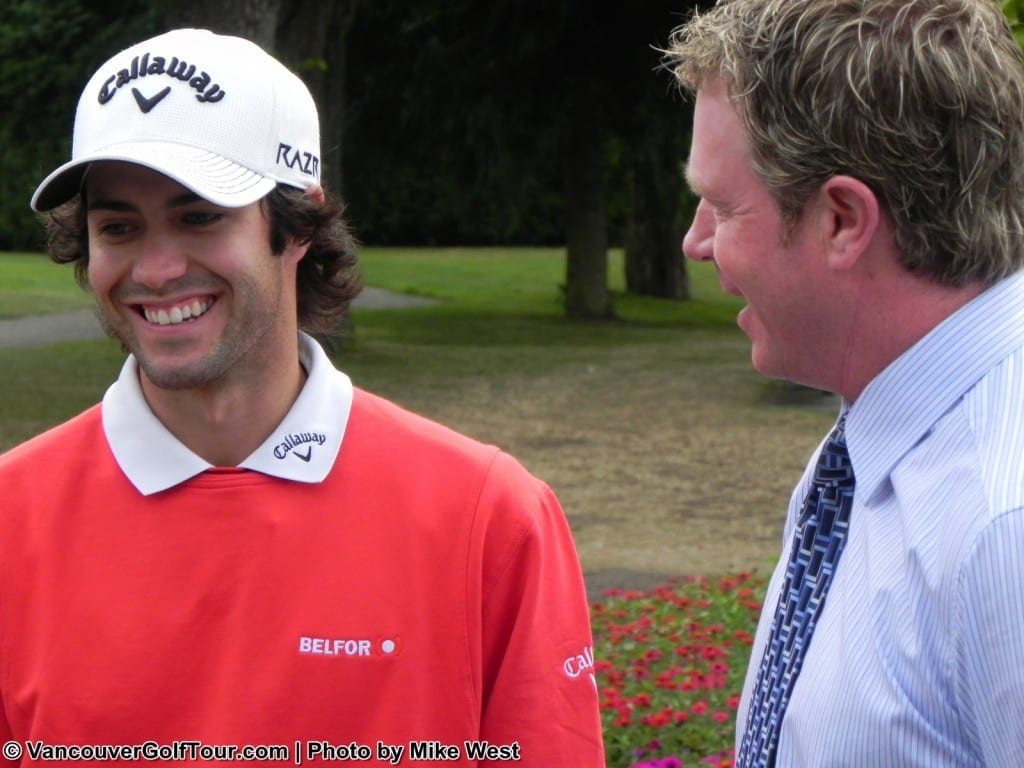 Adam Hadwin and Fraser Mulholland of VGT