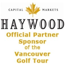 Haywood Securities Inc. Official Partner Sponsor of Vancouver Golf Tour