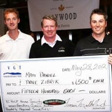 Zibrik and Daniel Share First Place Honours at the Tradition Golf Classic