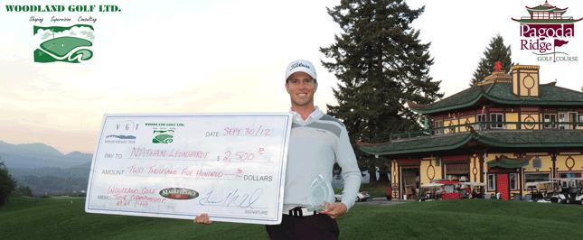 Nathan Leonhardt 2012 Woodland Golf VGT Tour Championship Winner