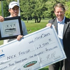 Taylor makes it into the Record Books with a 63 at Pitt Meadows MAJOR
