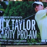 Fundraising tournament a success for Nick Taylor, Cascades golf program