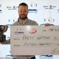 Webster by 1 at VGT Opening Event – Brad Garside Open
