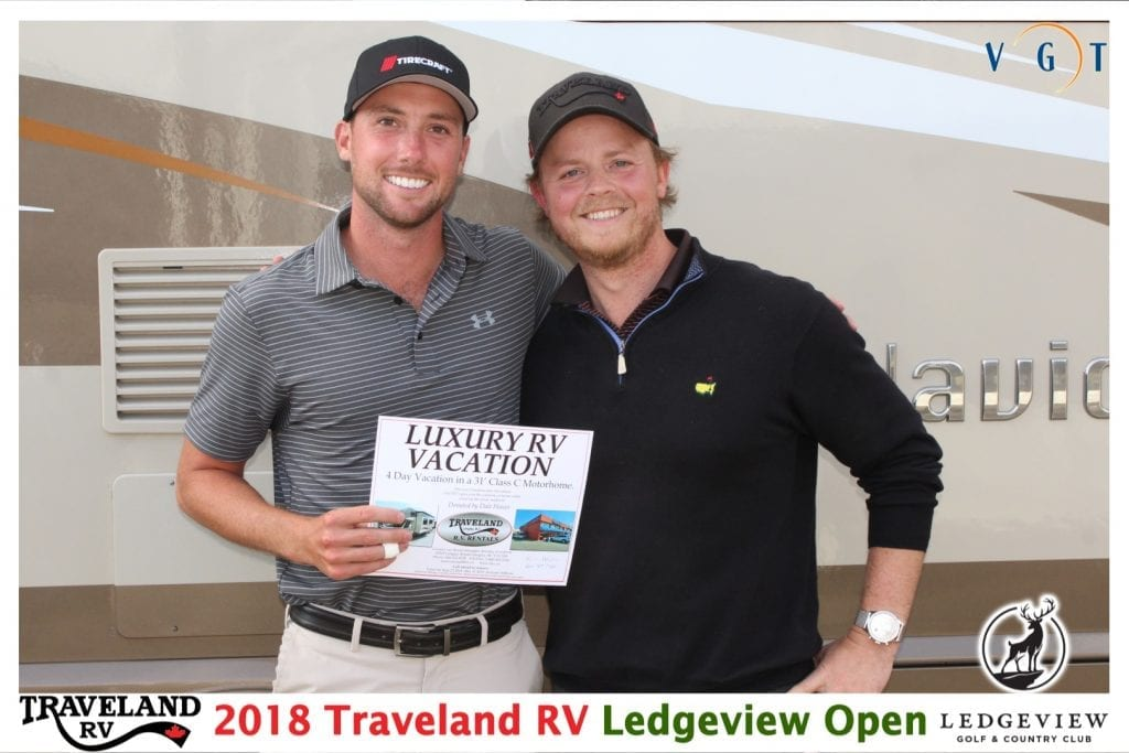 Scotty Secord (left) wins a 4 Day Deluxe RV Rental from Traveland RV (Kris Howes)