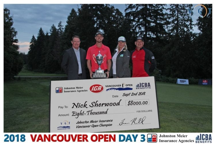 Sherwood Saves Win on Final Hole of Vancouver Open
