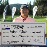 Shin Shines with 3-Shot Success over Spooner