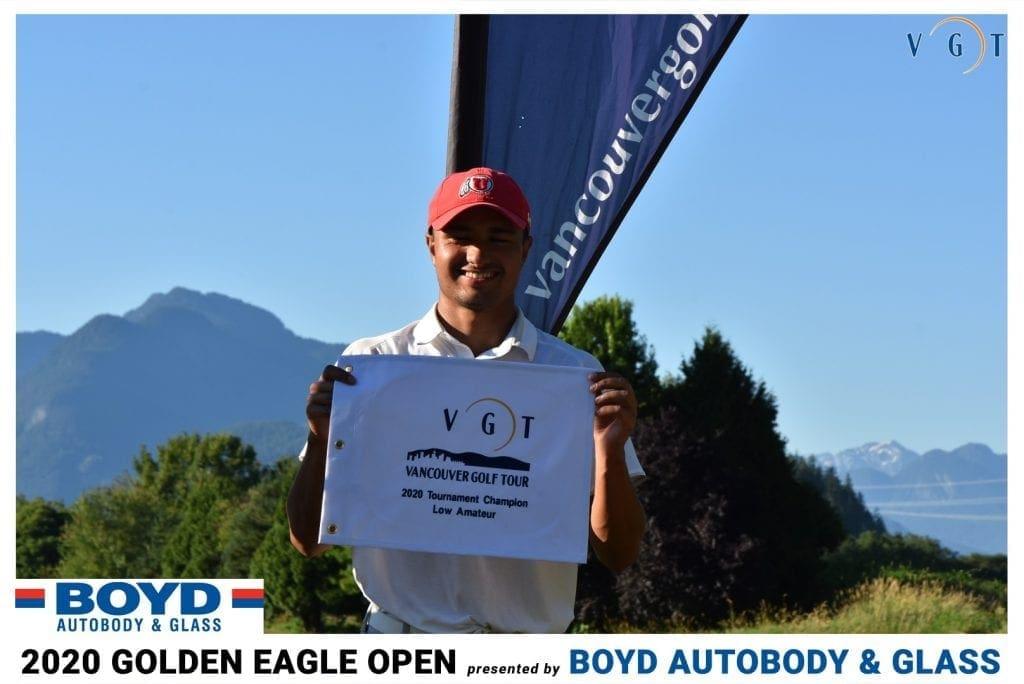 Tristan Mandur finished at -7 to win male championship flight