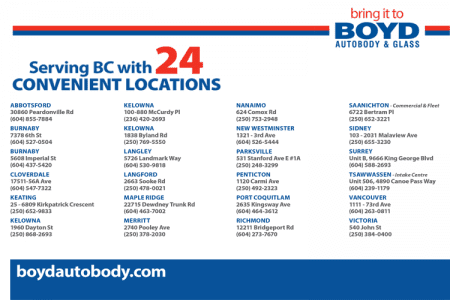 Boyd Autobody & Glass Locations